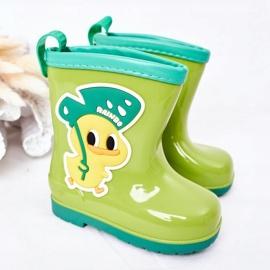 Galochas de pato verde infantil 1