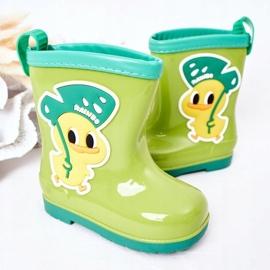 Galochas de pato verde infantil 3