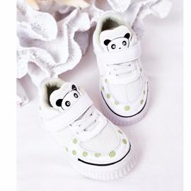 Apawwa Calçados Esportivos Infantis Com Panda Branco e Verde Chico 6