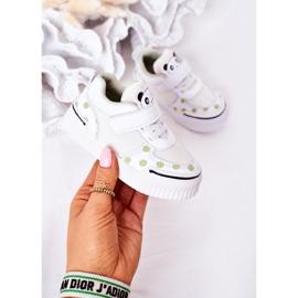 Apawwa Calçados Esportivos Infantis Com Panda Branco e Verde Chico 4