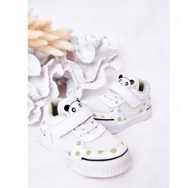 Apawwa Calçados Esportivos Infantis Com Panda Branco e Verde Chico 7