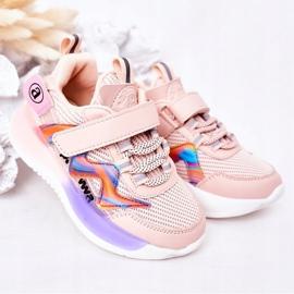 Apawwa Calçados infantis esportivos tênis rosa salto salto multicolorido 2