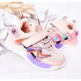 Apawwa Calçados infantis esportivos tênis rosa salto salto multicolorido 4