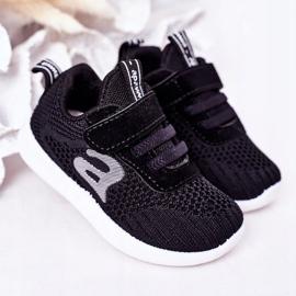 Apawwa Sapatos esportivos infantis pretos pequeno esportista 2