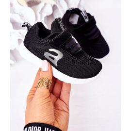 Apawwa Sapatos esportivos infantis pretos pequeno esportista 3