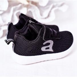 Apawwa Sapatos esportivos infantis pretos pequeno esportista 1