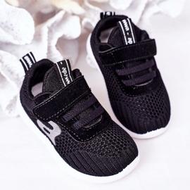 Apawwa Sapatos esportivos infantis pretos pequeno esportista 4
