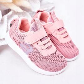 Apawwa Sapatos esportivos infantis rosa pequeno desportista 2