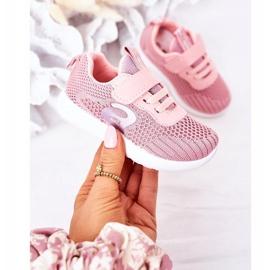 Apawwa Sapatos esportivos infantis rosa pequeno desportista 3