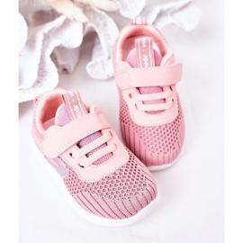 Apawwa Sapatos esportivos infantis rosa pequeno desportista 1