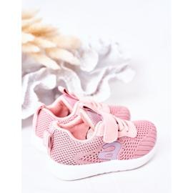Apawwa Sapatos esportivos infantis rosa pequeno desportista 4