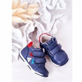 Apawwa Brogues infantis com velcro azul marinho Milo 5
