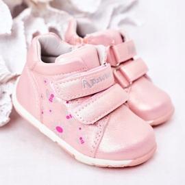 Apawwa Brogues infantis com velcro rosa milo 1