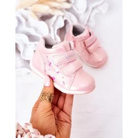 Apawwa Brogues infantis com velcro rosa milo 2