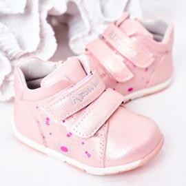 Apawwa Brogues infantis com velcro rosa milo 3