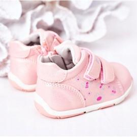 Apawwa Brogues infantis com velcro rosa milo 4