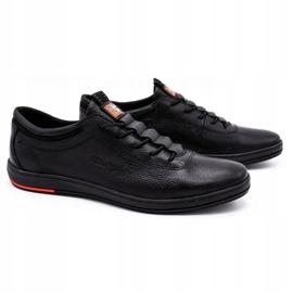 Polbut Sapatos casuais de couro masculino K23 preto 1