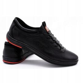 Polbut Sapatos casuais de couro masculino K23 preto 2