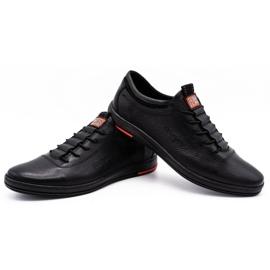 Polbut Sapatos casuais de couro masculino K23 preto 4