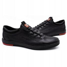 Polbut Sapatos casuais de couro masculino K23 preto 3
