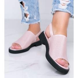 Sandálias rosa de salto baixo da Betsy -de-rosa 1