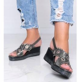 Sandálias cinza metalizadas Mon 1
