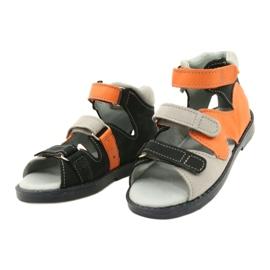 Sandálias de alta profilaxia Mazurek 291 cinza laranja 1