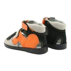 Sandálias de alta profilaxia Mazurek 291 cinza laranja 2