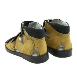 Sandálias de alta profilaxia Mazurek 291 cinza laranja amarelo 2