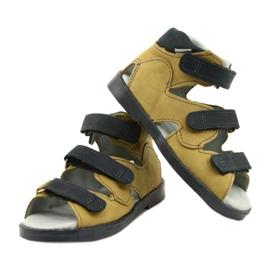 Sandálias de alta profilaxia Mazurek 291 cinza laranja amarelo 3