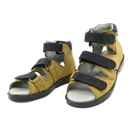 Sandálias de alta profilaxia Mazurek 291 cinza laranja amarelo 1