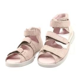 Sandálias de alta profilaxia Mazurek 291 rosa-prata -de-rosa 1