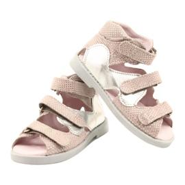 Sandálias de alta profilaxia Mazurek 291 rosa-prata -de-rosa 3