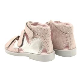 Sandálias de alta profilaxia Mazurek 291 rosa-prata -de-rosa 2