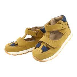 Nabos masculinos Sandals Mazurek 1187 c. Amarelo marinha 1
