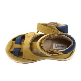 Nabos masculinos Sandals Mazurek 1187 c. Amarelo marinha 4