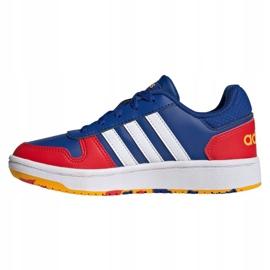 Sapatos Adidas Hoops 2.0 Jr FY7016 azul marinho azul 1