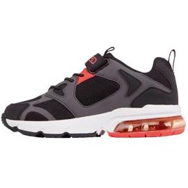 Sapatos infantis Kappa Yero preto-cinza-coral 260891K 1129 vermelho 2