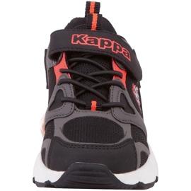 Sapatos infantis Kappa Yero preto-cinza-coral 260891K 1129 vermelho 4