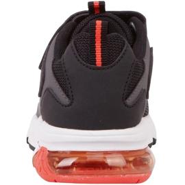 Sapatos infantis Kappa Yero preto-cinza-coral 260891K 1129 vermelho 5