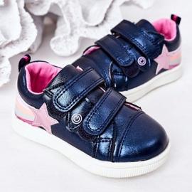 PE1 Calçados Esportivos de Couro Ecológico Infantil Com Arco-Íris Azul Marinho Jasmim multicolorido 4