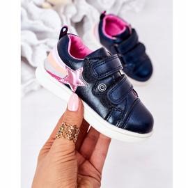 PE1 Calçados Esportivos de Couro Ecológico Infantil Com Arco-Íris Azul Marinho Jasmim multicolorido 2