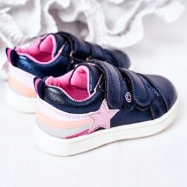 PE1 Calçados Esportivos de Couro Ecológico Infantil Com Arco-Íris Azul Marinho Jasmim multicolorido 1
