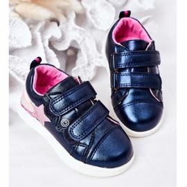 PE1 Calçados Esportivos de Couro Ecológico Infantil Com Arco-Íris Azul Marinho Jasmim multicolorido 3
