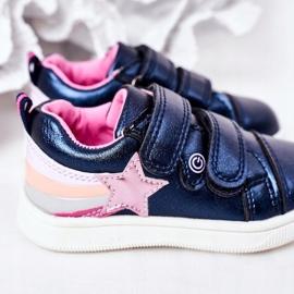 PE1 Calçados Esportivos de Couro Ecológico Infantil Com Arco-Íris Azul Marinho Jasmim multicolorido 5