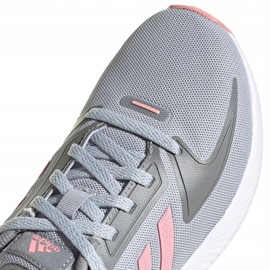 Sapatos infantis Adidas Runfalcon 2.0 K cinza-rosa FY9497 3