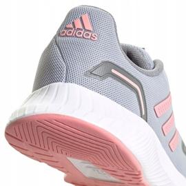 Sapatos infantis Adidas Runfalcon 2.0 K cinza-rosa FY9497 4