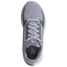 Sapatos infantis Adidas Runfalcon 2.0 K cinza-rosa FY9497 1