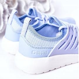 Sapatilhas de desporto infantil Big Star HH374214 azul claro 1
