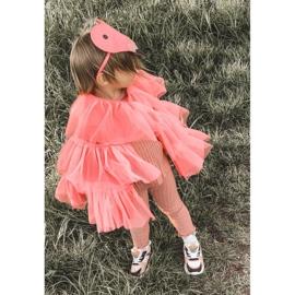 Calçados infantis esportivos tênis rosa néon tempo de jogo branco preto 1